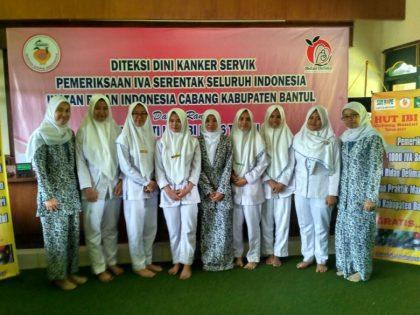 Pemeriksaan IVA (Inspeksi Visual Asetat) Serentak dalam Rangka HUT IBI (Ikatan Bidan Indonesia) ke 66 Di Kabupaten Bantul, Yogyakarta