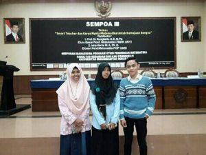 Mahasiswa Semester Dua Prodi Pendidikan Matematika UAA Menjadi Pemakalah di Seminar Nasional
