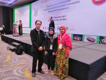 Dosen Program Studi Ilmu Gizi Universitas Alma Ata menjadi oral presenter dalam ASEAN Food Conference (AFC) 2017 di Viet Nam