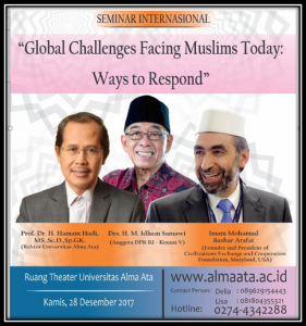 Seminar International dengan tema Global Challenge Facing Moslem Today