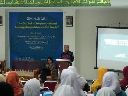 """Seminar Gizi Universitas Alma Ata """"Isu Gizi Terkini dan Program Nasional Penanggulangan Masalah Gizi Ganda"""""""