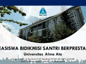 Beasiswa Bidikmisi Santri Berprestasi Universitas Alma Ata