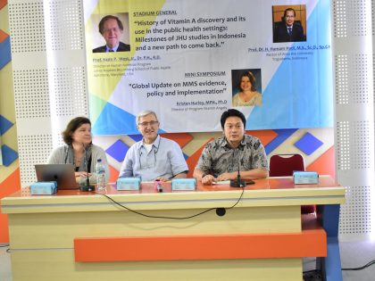 Alma Ata University Held Stadium General and Symposium with Johns Hopkins University in the University attempts to increase the intake of vitamins for Indonesian pregnant women and children.