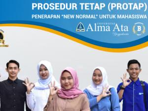 """PROSEDUR TETAP (PROTAP) PENERAPAN """"NEW NORMAL"""" UNTUK MAHASISWA"""