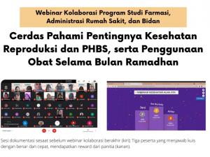 Webinar Cerdas Pahami Pentingnya Kesehatan Reproduksi dan PHBS, serta Penggunaan Obat Selama Bulan Ramadhan