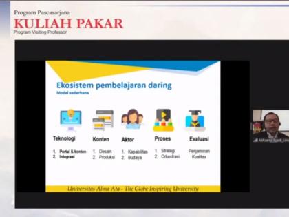 Dr. Akhsanul Fuadi menjadi Narasumber KULIAH PAKAR di Program Visiting Profesor